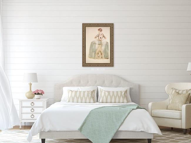 Interior design bedroom wall art