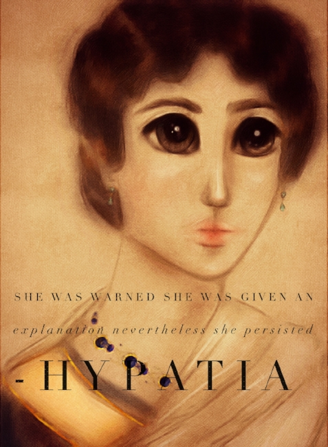Hypatia Women's History Illustration