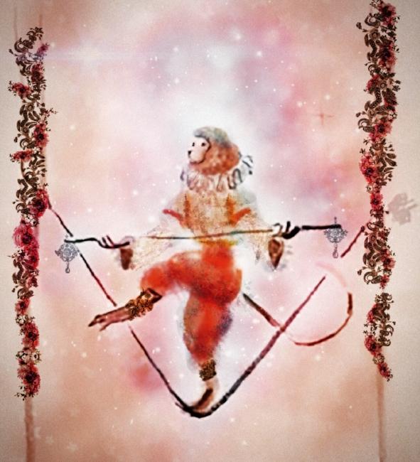 Circus Monkey Illustration {Fairies of Versailles}