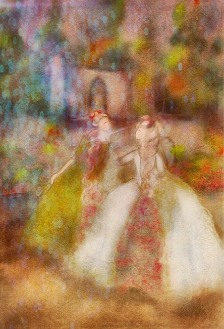 Fairy Oil Painting {Fairies of Versailles}