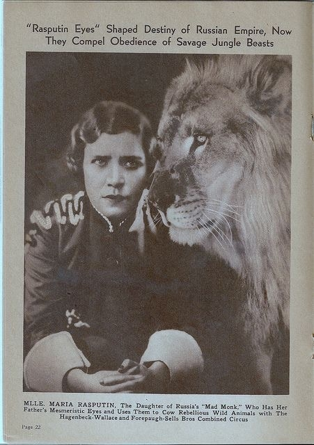 Maria Rasputin lion tamer photo