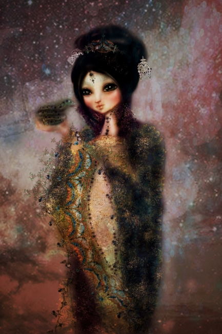 Chinese Goddess Illustration