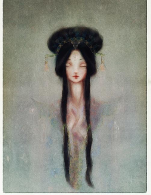 Original Oil Painting Kwan Yin