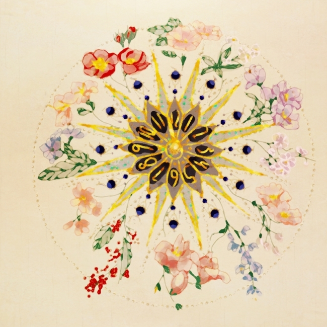 Carl Linnaeus watercolor garden clock