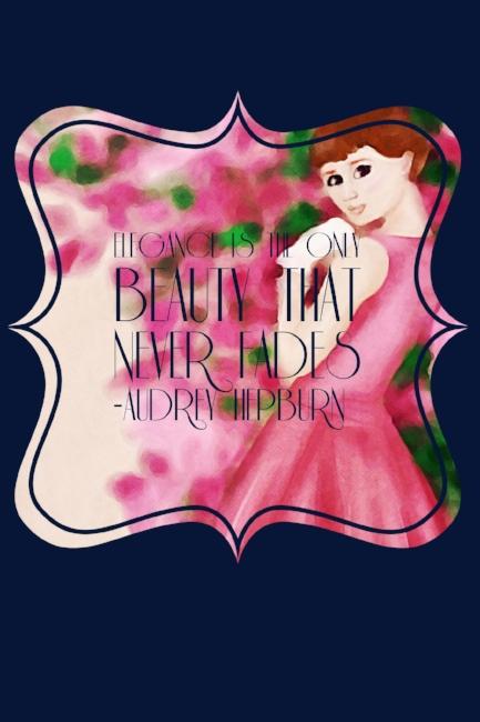 Audrey Hepburn typography art