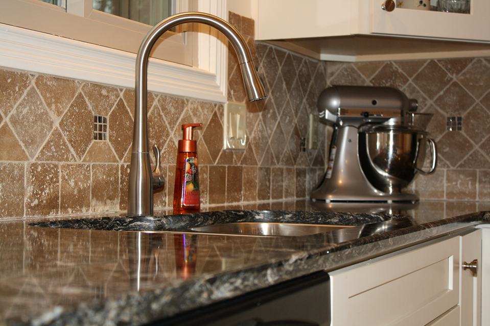 Granite Countertop with Stainless Steel Sink