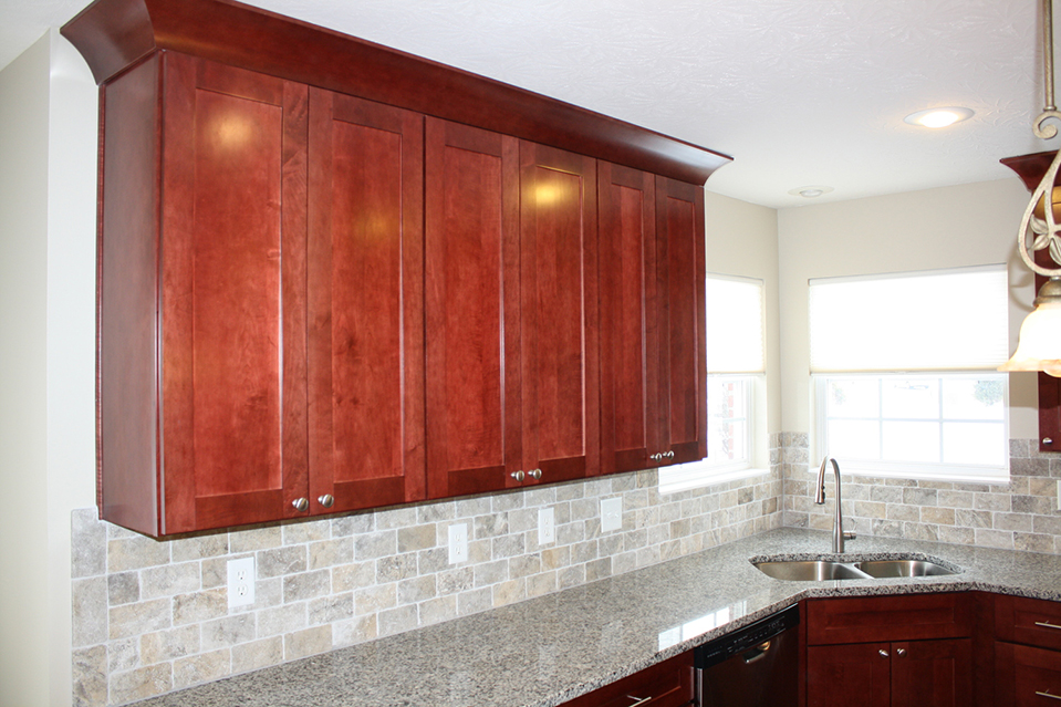 Tall Kitchen Cabinets with Granite Countertop.
