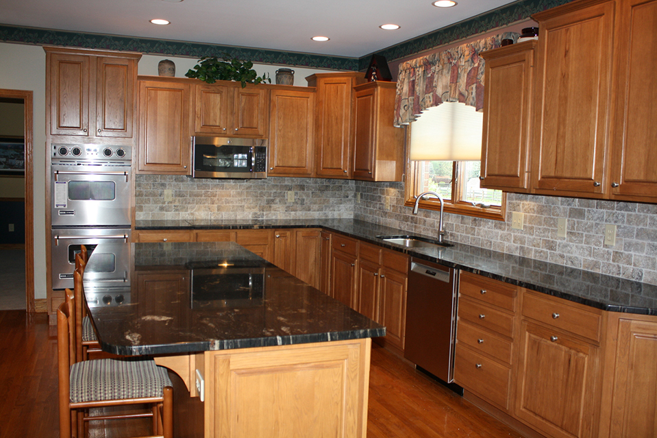 Kitchen, Sink and Granite Counter Top.