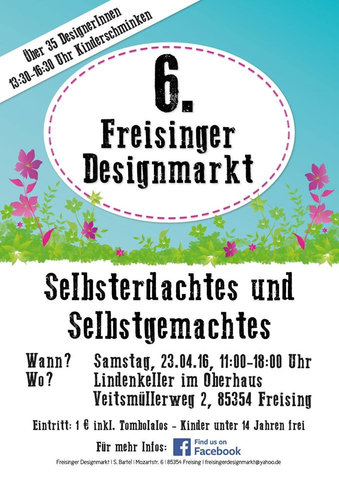 Freisinger Designmarkt - 23.April 2016