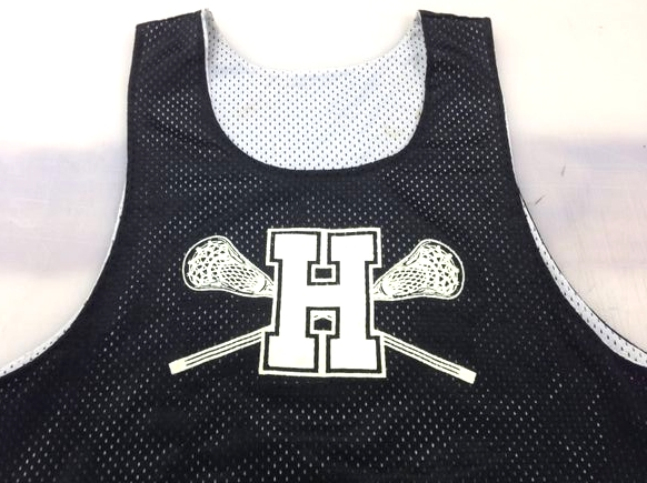 White Print on Black/White Reversible Jersey