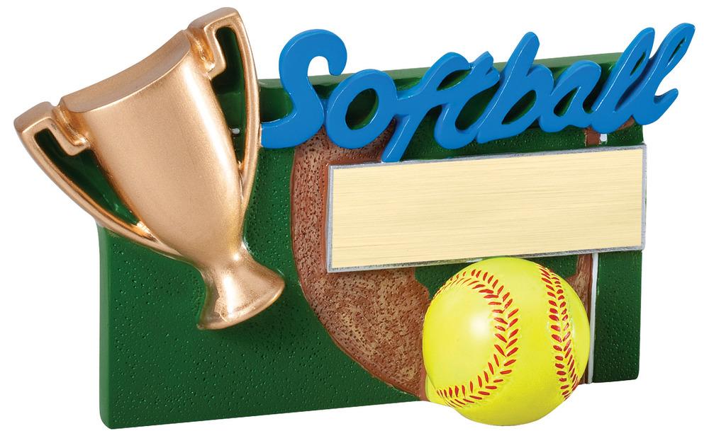 """Softball - RFC02 -5.25"""" wide x 3.5"""" tall"""