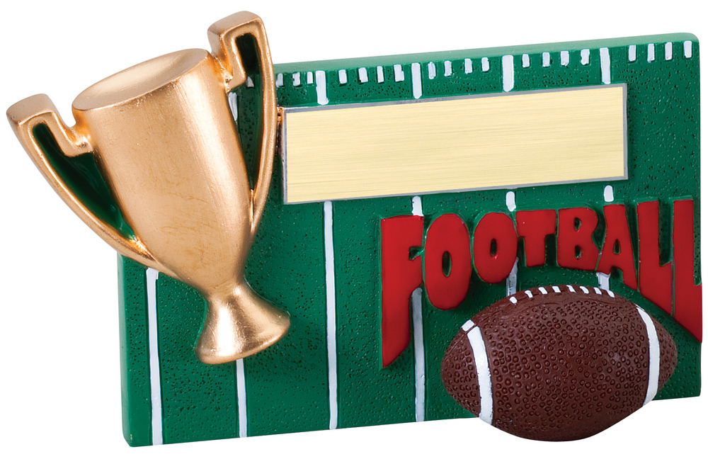 "Football - RFC06 - 5.25"" wide x 3.5"" tall"