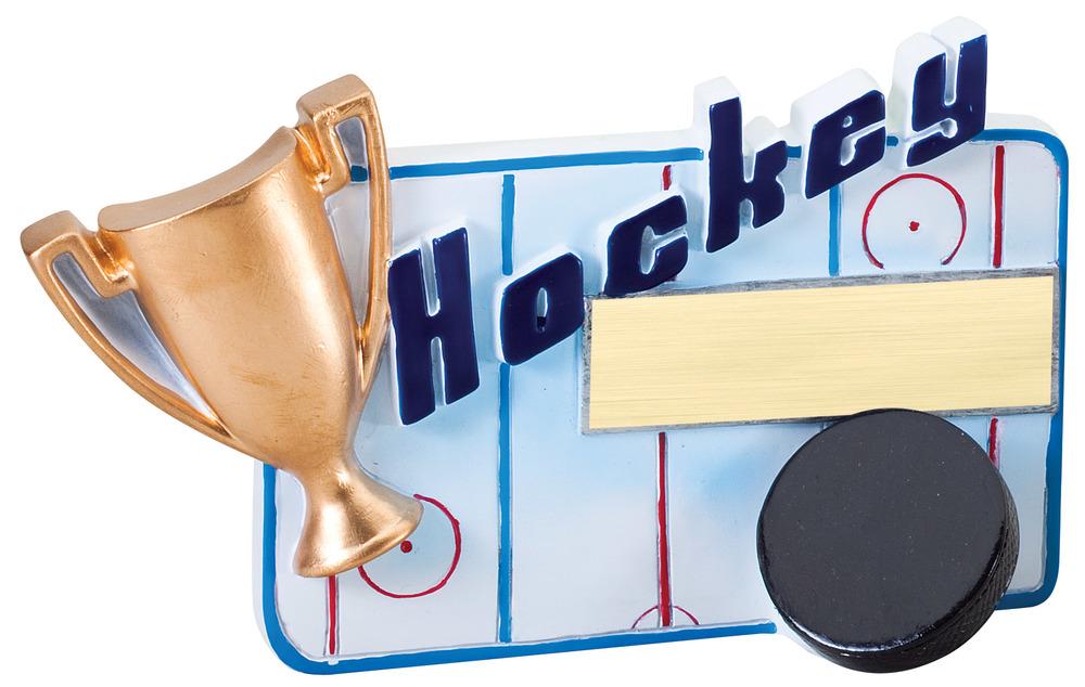 """Hockey - RFC10 -5.25"""" wide x 3.5"""" tall"""