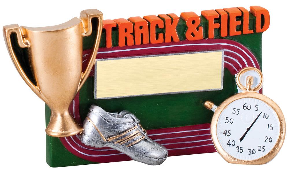 """Track & Field - RFC16 -5.25"""" wide x 3.5"""" tall"""
