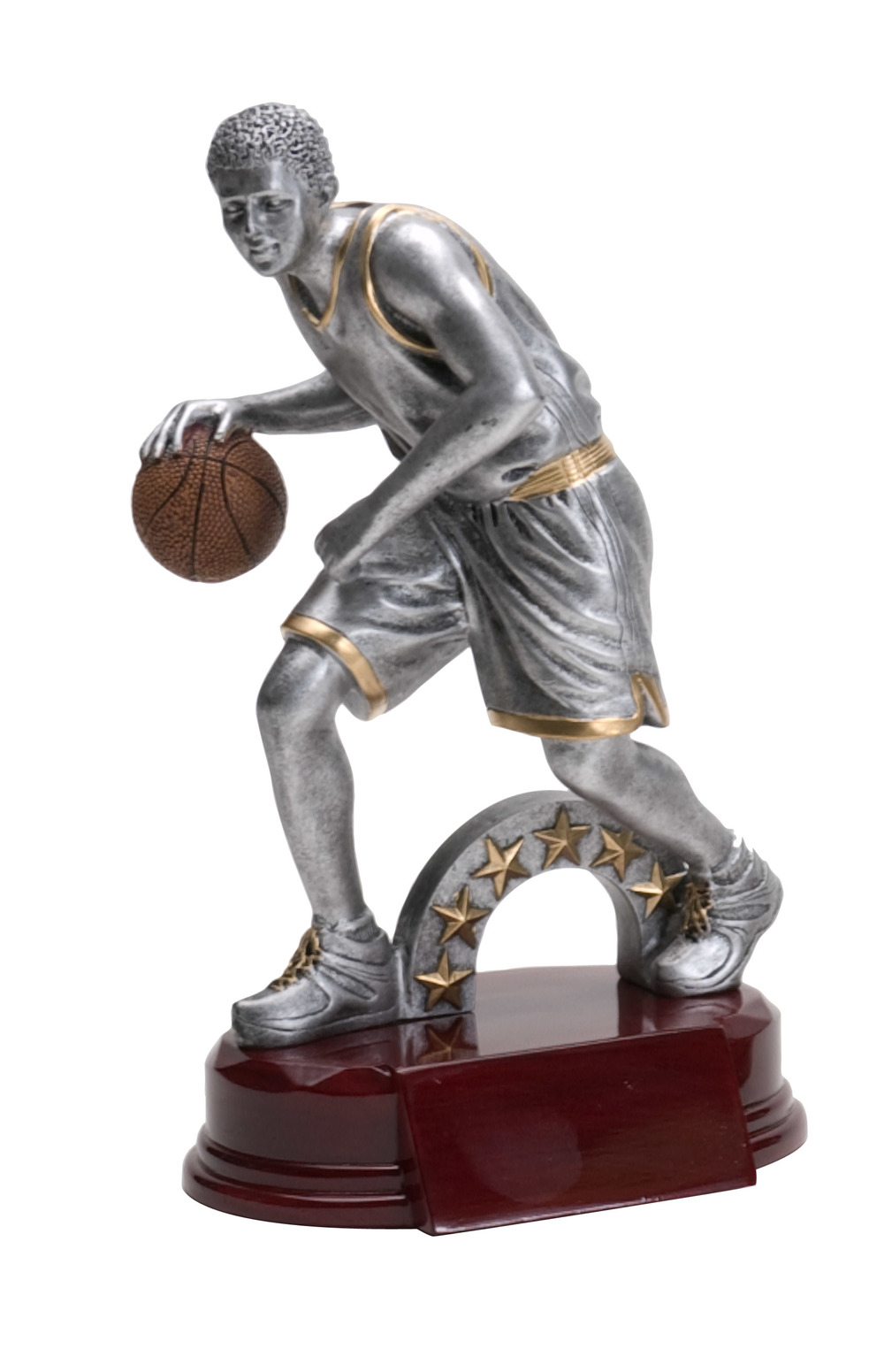 "Basketball, Male:   Large - RFC-1121 - 9.25""  Medium - RFC-921 - 8""  Small - RFC-721 - 5.75"""