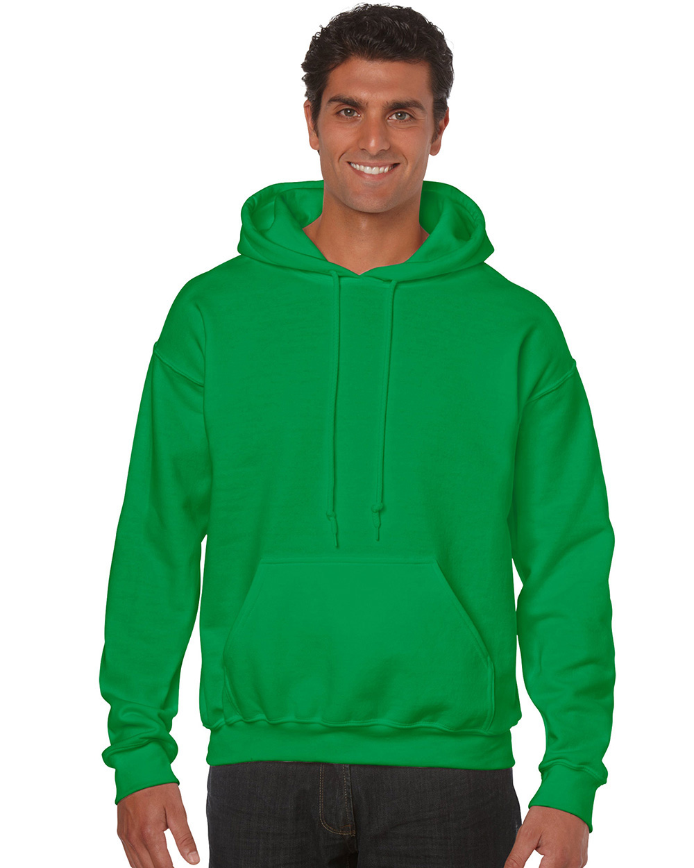 Gildan 18500     Classic Fit Adult Hooded Sweatshirt    50% Cotton / 50% Polyester Fleece