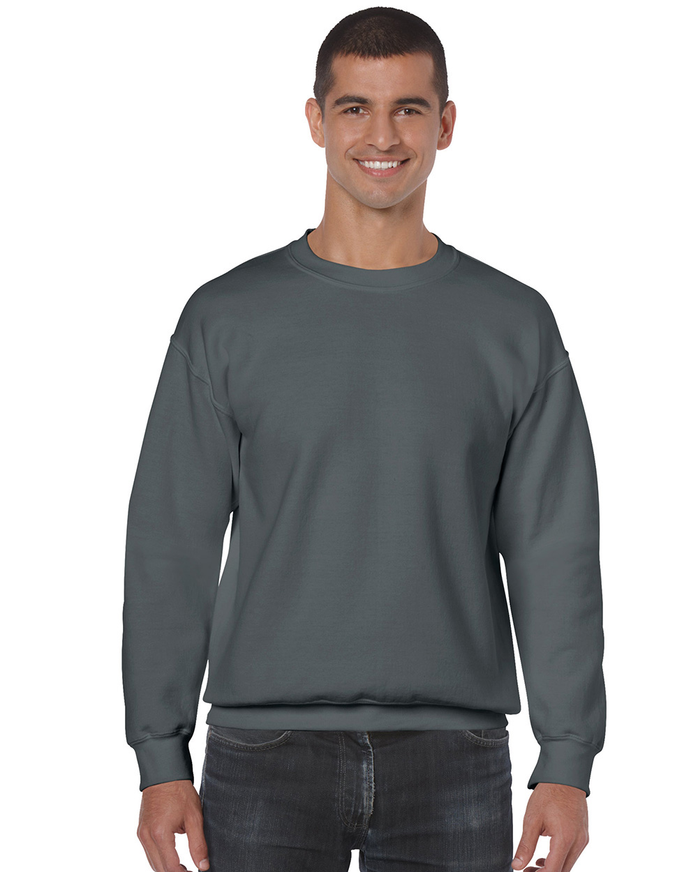 Gildan 18000     Classic Fit Adult Crewneck Sweatshirt    50% Cotton / 50% Polyester Fleece