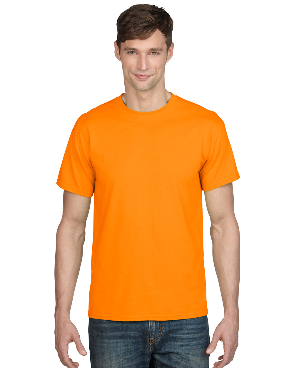 Gildan 8000      DryBlend™    Classic Fit Adult T-Shirt    5.6 oz. 50% Cotton/50% DryBlend Polyester