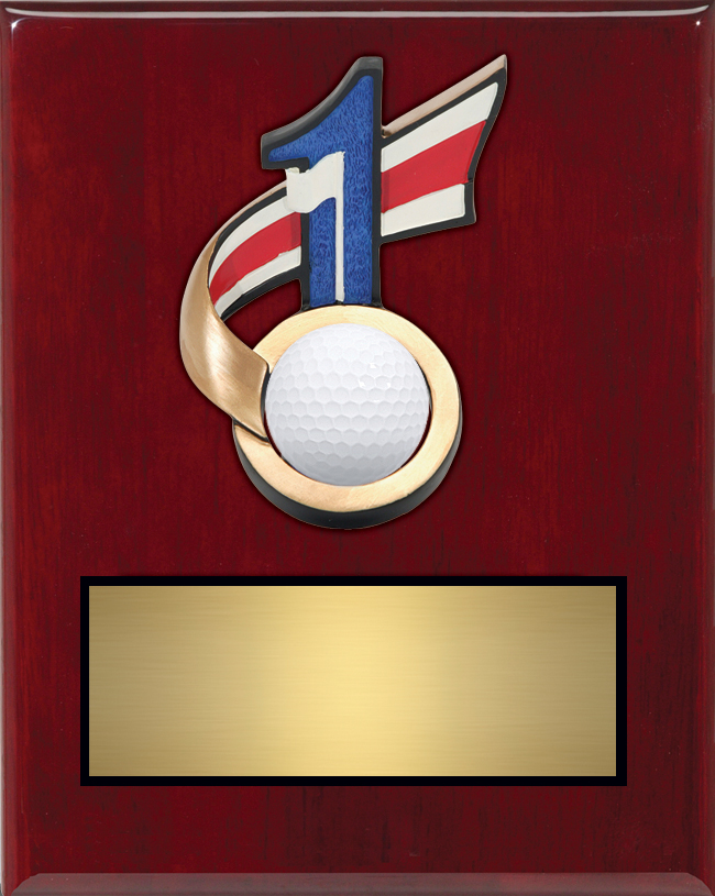 "Hole In One Plaque 69621GS - 7"" wide x 9"" tall Price = $49"