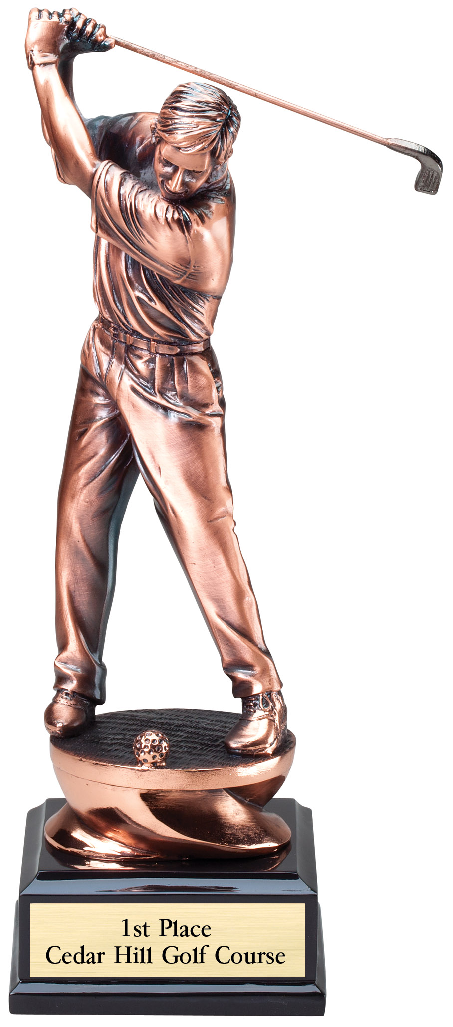 "Copper Finish - Driver, Male Large: G1503 - 11"" tall - $47 Medium: G1502 - 9.25"" tall - $40 Small: G1501 - 8.25"" tall - $30"