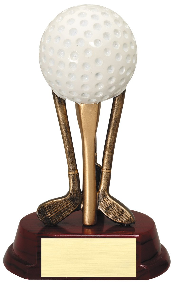 "Ball on Clubs Large: RF8441C - 6.75"" tall - $19 Medium: RF8441B - 6"" tall - $17 Small: RF8441A - 5"" tall - $15"