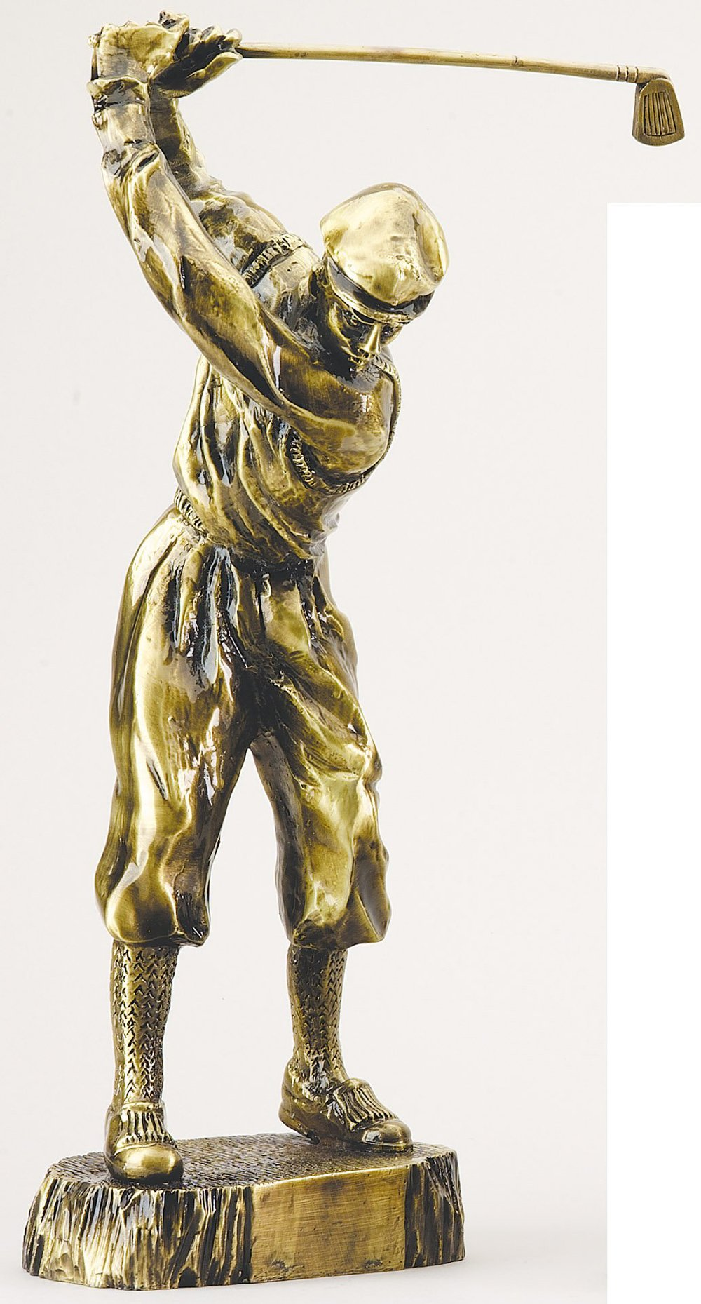 "Gold Cast Metal Finish - Classic Golfer X-Large: RFG175 - 17"" tall - $89 Large: RFG150 - 15"" tall - $72 Medium: RFG125 - 12.5"" tall - $47"