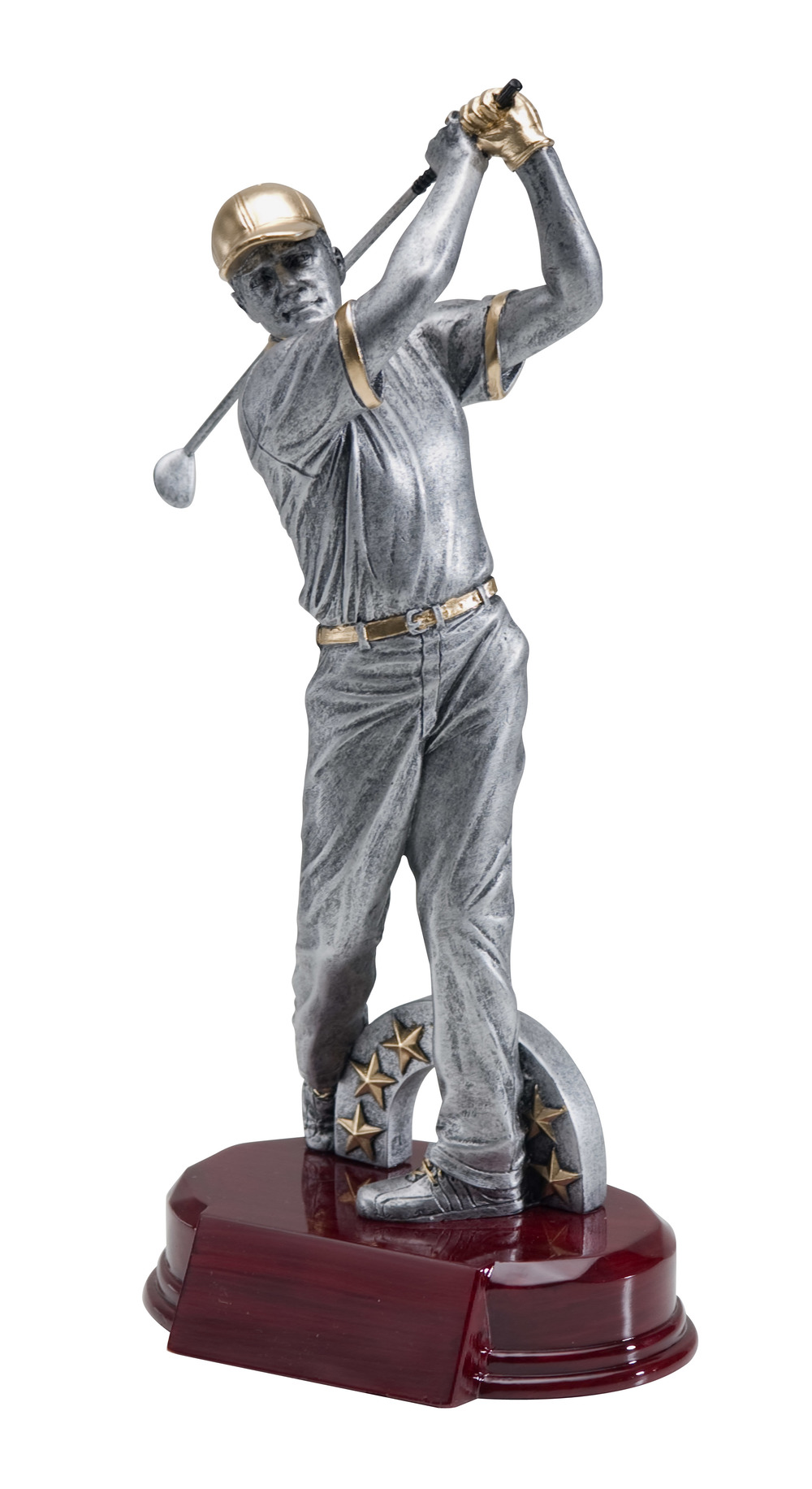 "Resin Male Golfer Large: RFC-949 - 10"" tall Price = $25"