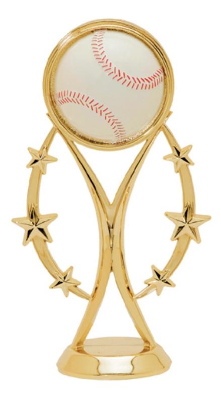 "Color Sport Baseball   8503-G - 6"" tall"