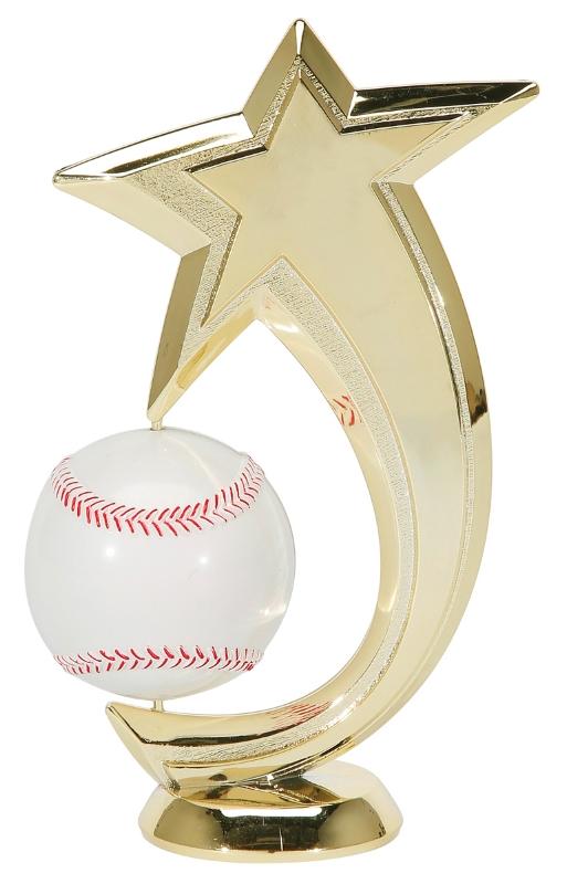 "Baseball Shooting Star Spinner 47503-G - 6"" tall with Spinning Baseball"