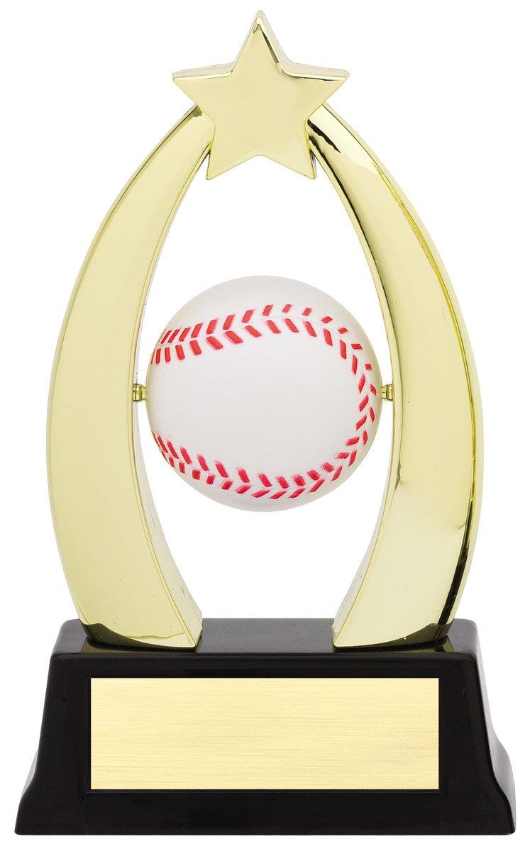"Star Spinner - Baseball SPIN 10-02 - 7"" tall with Spinning Baseball"