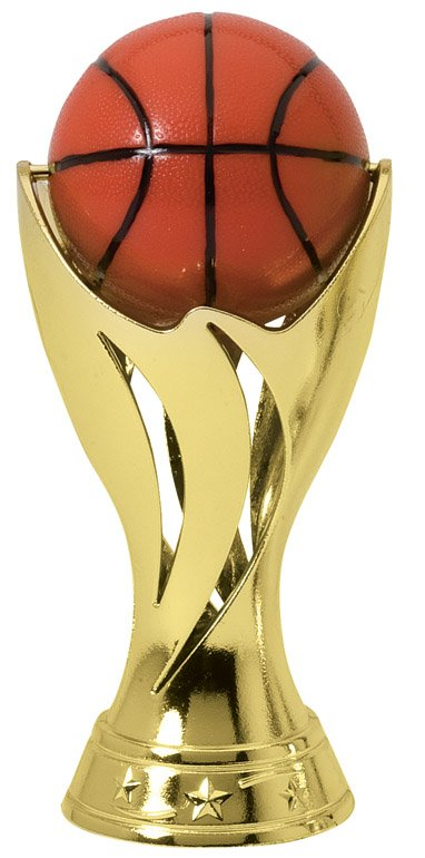 "Pedestal Spin Basketball   SPIN 12-03 - 5.25"" tall with Spinning Basketball"