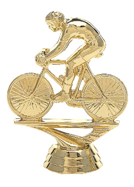 """Bicycle Rider - Male   589-G - 3.75"""" tall"""