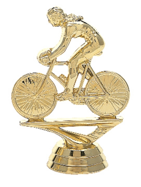 """Bicycle Rider - Female   588-G - 3.75"""" tall"""
