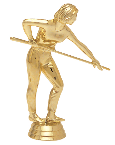 "Pool Shooter, Female   5024-G - 5.25"" tall  408-G - 4"" tall"