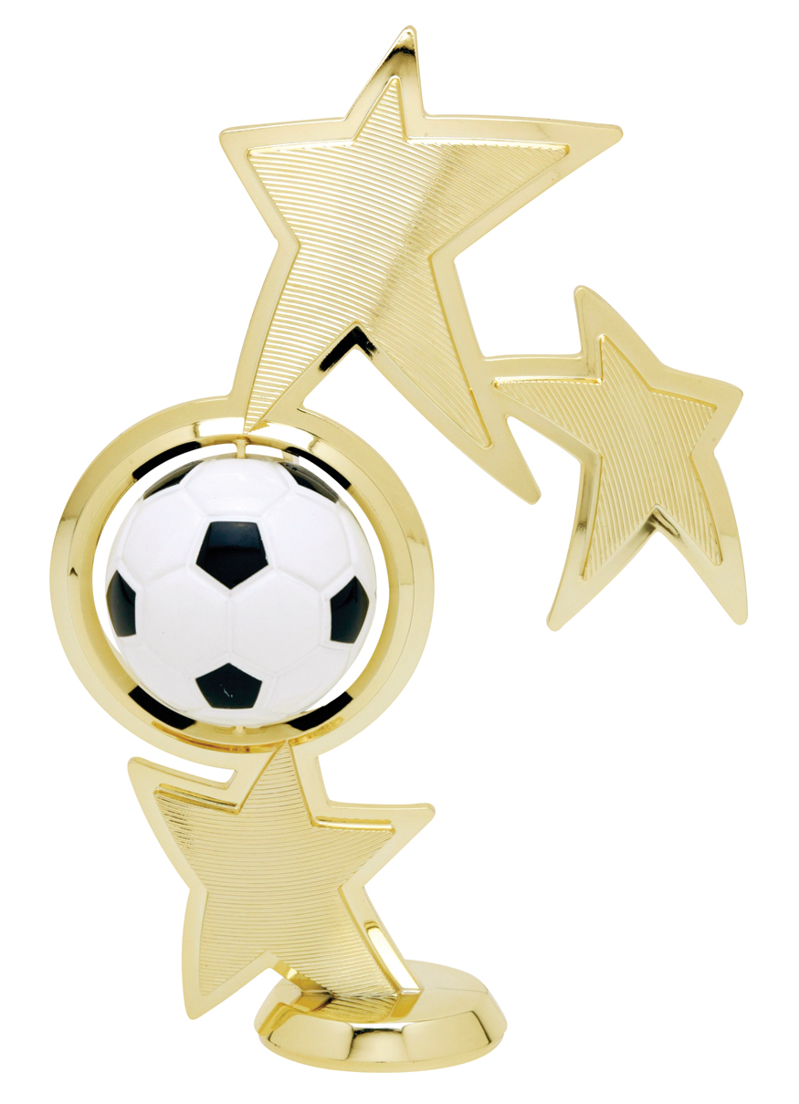 "Spin Sport - Soccer   45515-G - 8"" tall with Spinning Soccer Ball"