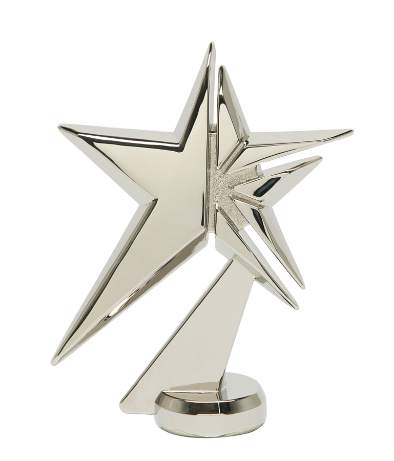 "Zenith Star - Silver - Metal   1078-S - 4.75"" tall"