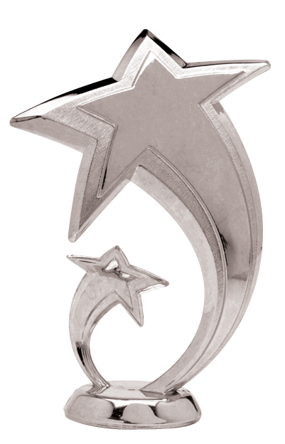 "Shooting Star - Silver   5070-S - 5.5"" tall  5080-S - 6.5"" tall"