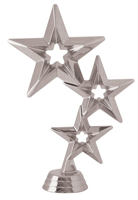 "Star Cluster - Silver   5061-S - 6"" tall"