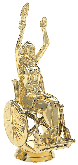 "Wheelchair Victory - Female   6002-G - 4"" tall"