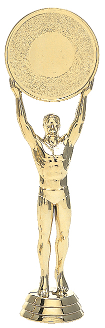 "Victory 2"" Mylar Holder - Male   6011-G - 6.5"" tall"