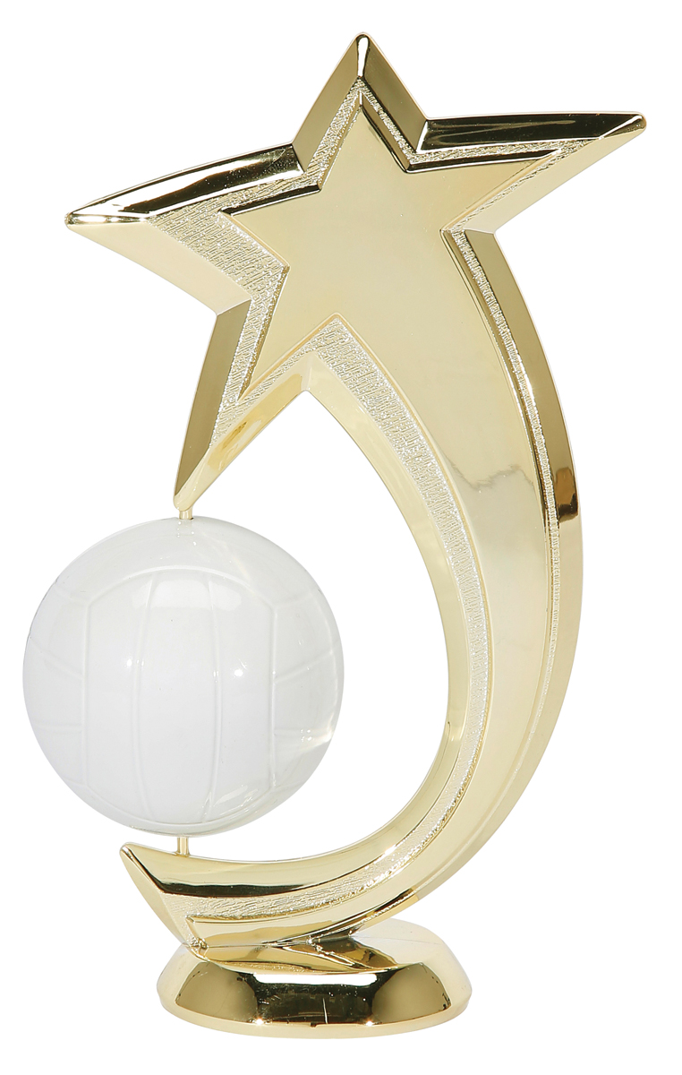 "Shooting Star Spinner - Volleyball   47518-G - 6"" tall with Spinning Volleyball"