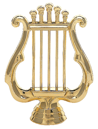 "Music Lyre 425-G - 4.25"" tall"