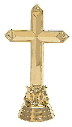 "Cross   Large - 4004-G - 5.75"" tall  Med - 4005-G - 4.5"" tall  Small - 311-G - 3"" tall"
