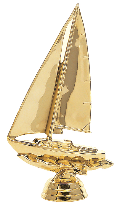 "Sailboat   5034-G - 6"" tall  4021-G - 4"" tall"