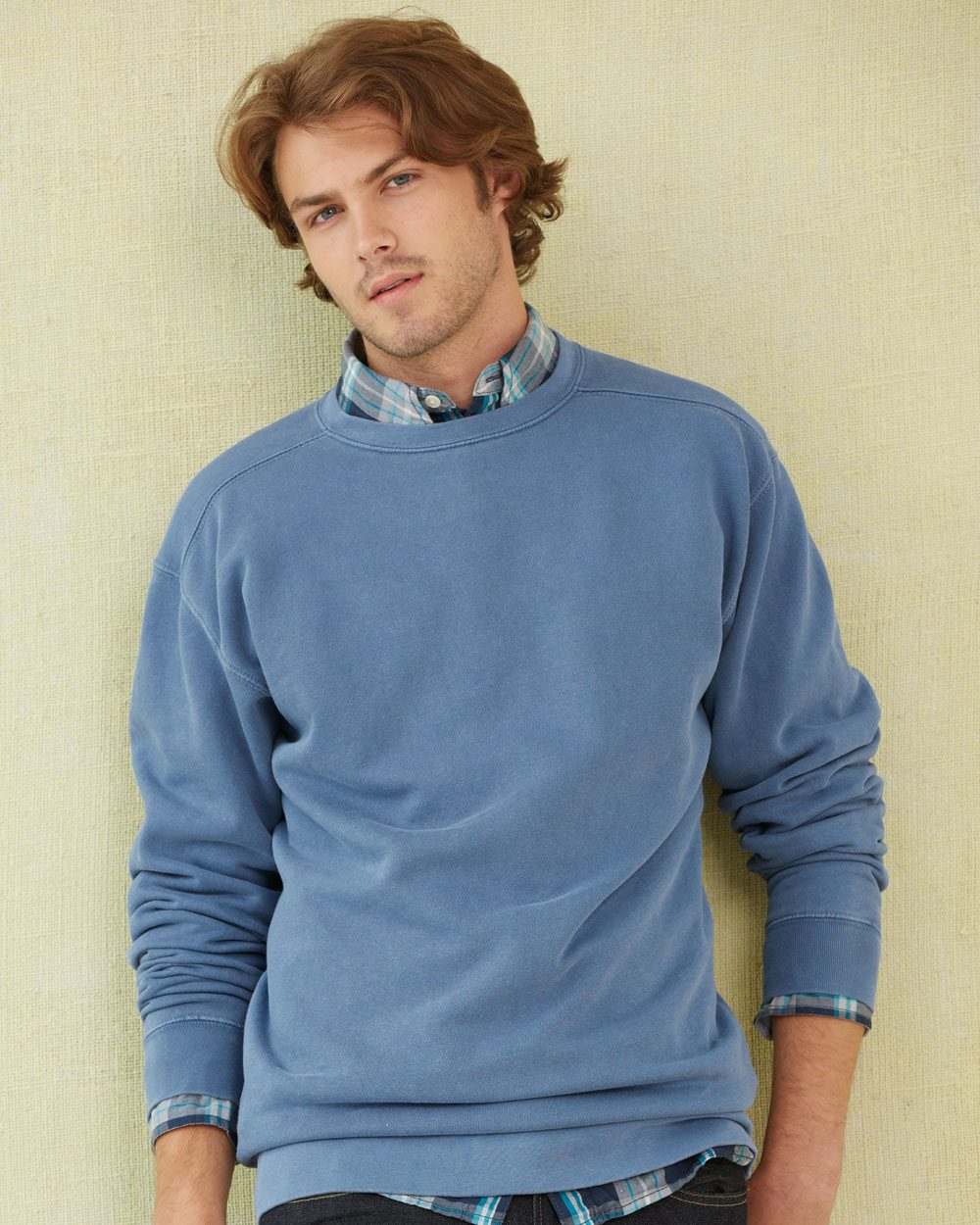 Comfort Colors 1566     Adult Crewneck Sweatshirt    80% Ring Spun Cotton/20% Polyester