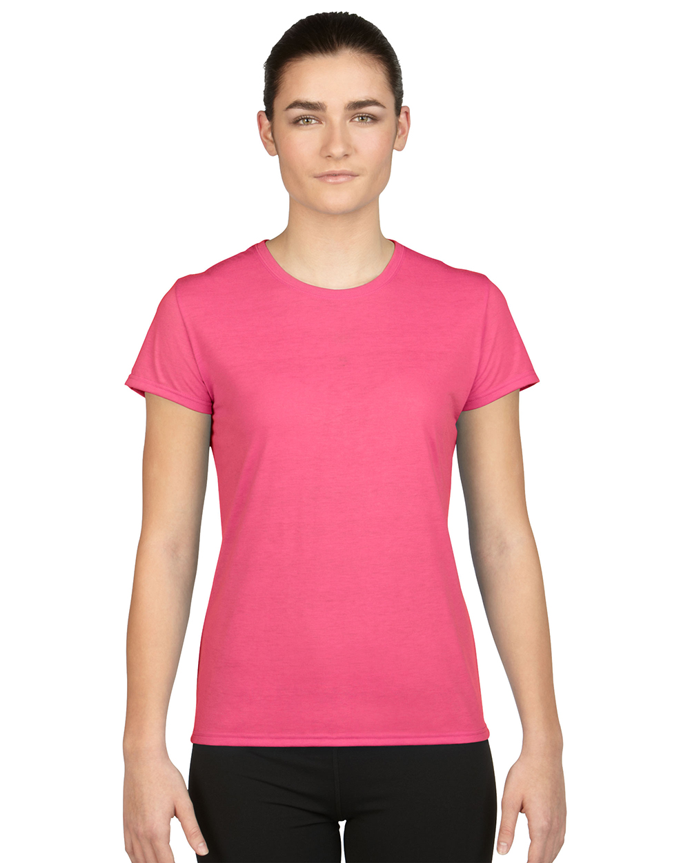Gildan 42000L     Ladies Performance     4.5 oz. 100% Polyester (Cotton Feel)