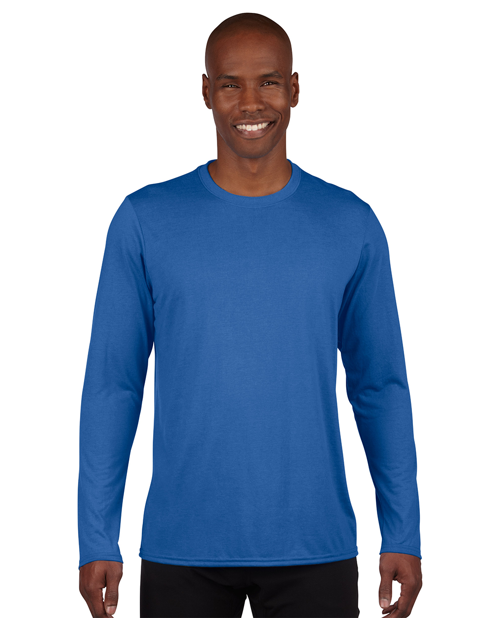 Gildan 42400     Adult Long Sleeve Performance     4.5 oz. 100% Polyester (Cotton Feel)
