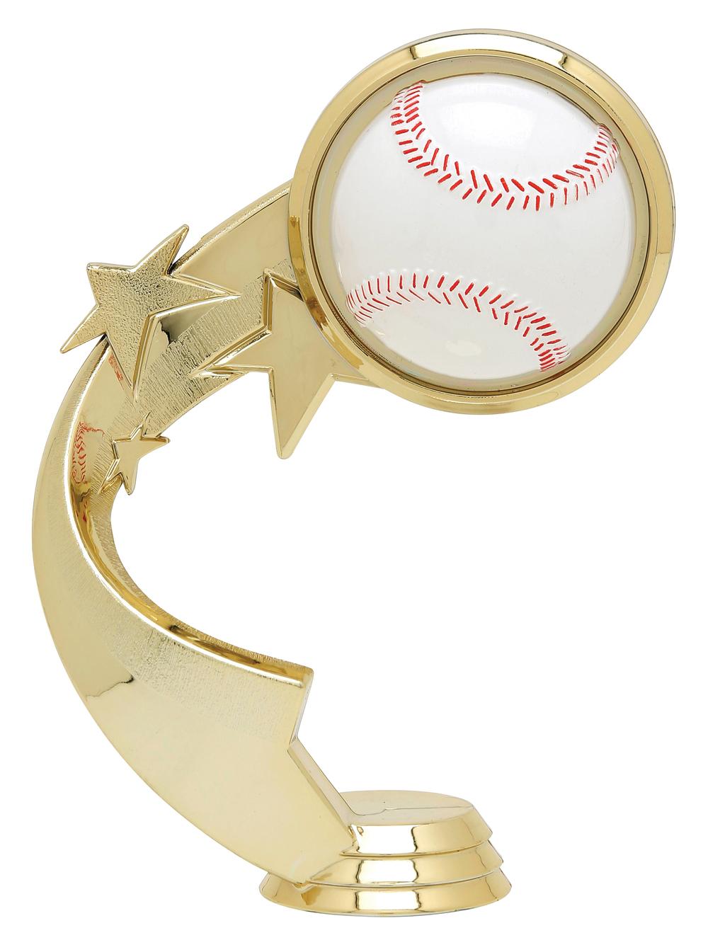 "Ribbon Star Baseball 5503-G - 5.25"" tall"