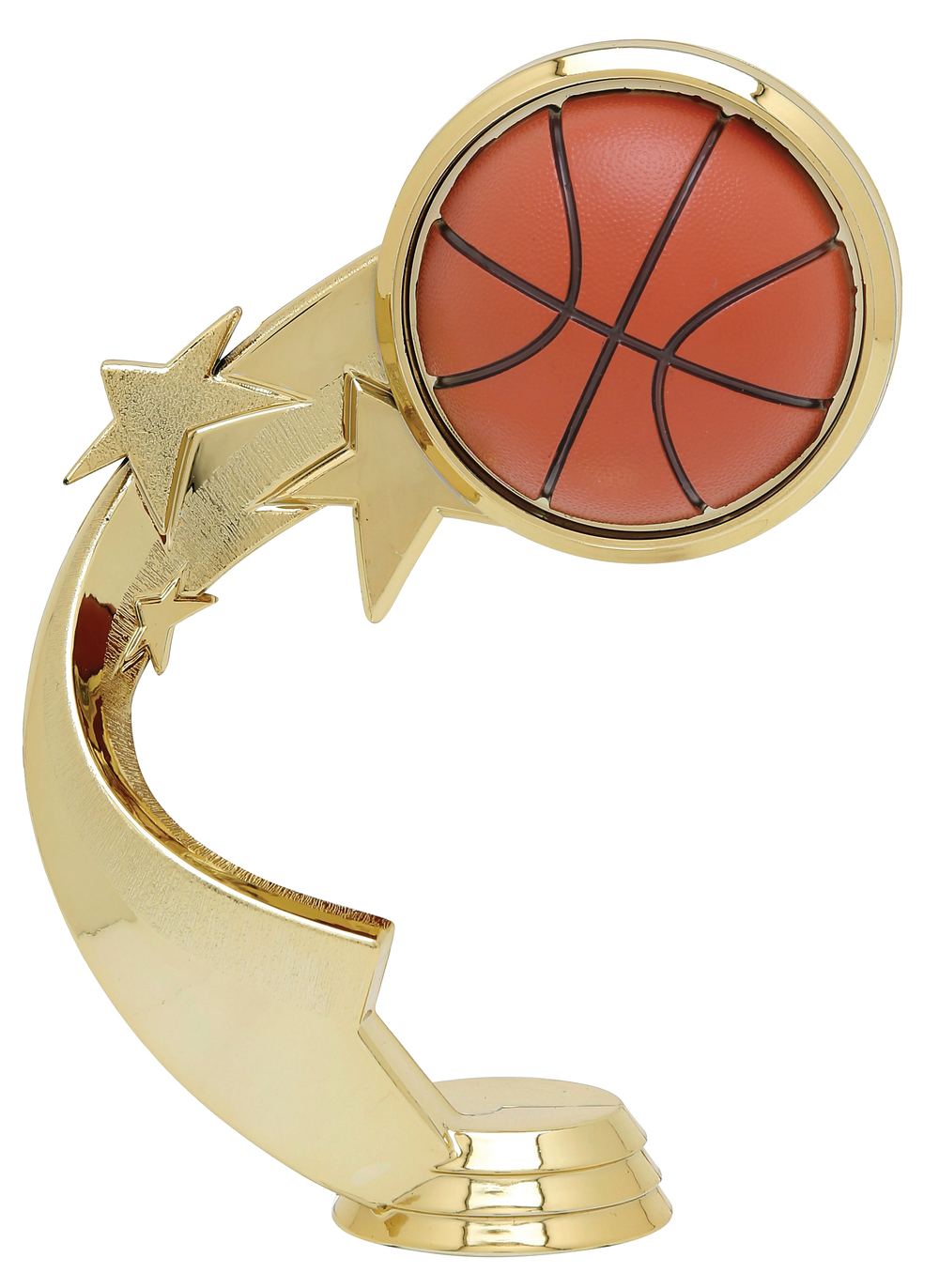 "Ribbon Star Basketball 5505-G - 5.25"" tall"