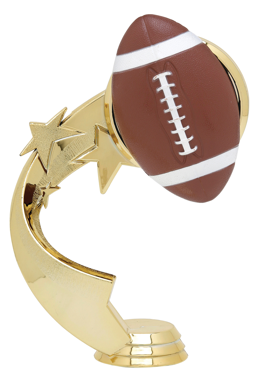 "Ribbon Star Football 5500-G - 5.25"" tall"